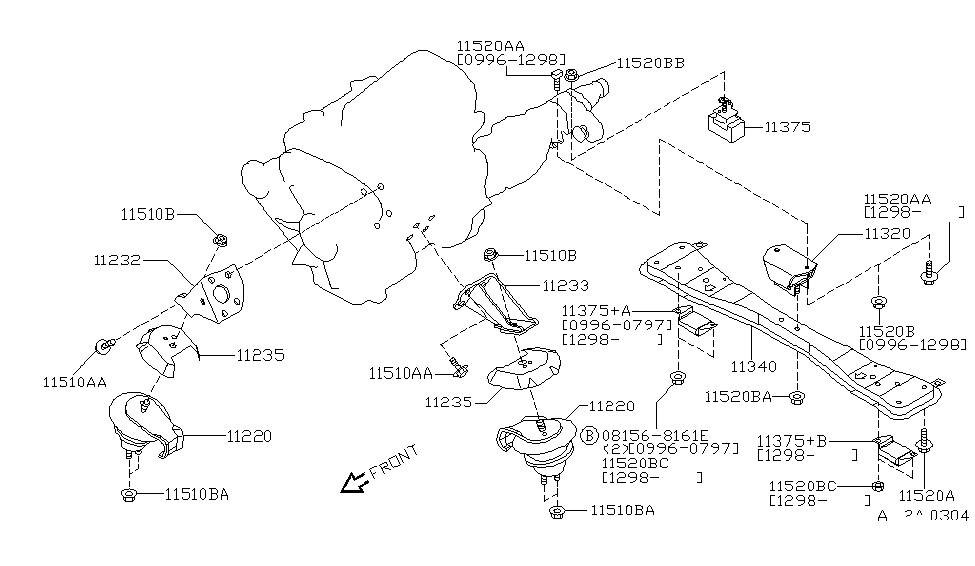 Stupendous 2000 Infiniti Qx4 Engine Transmission Mounting Wiring Digital Resources Funapmognl