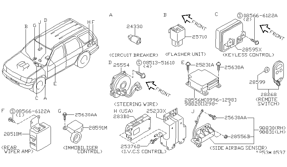 1998 infiniti qx4 electrical-unit