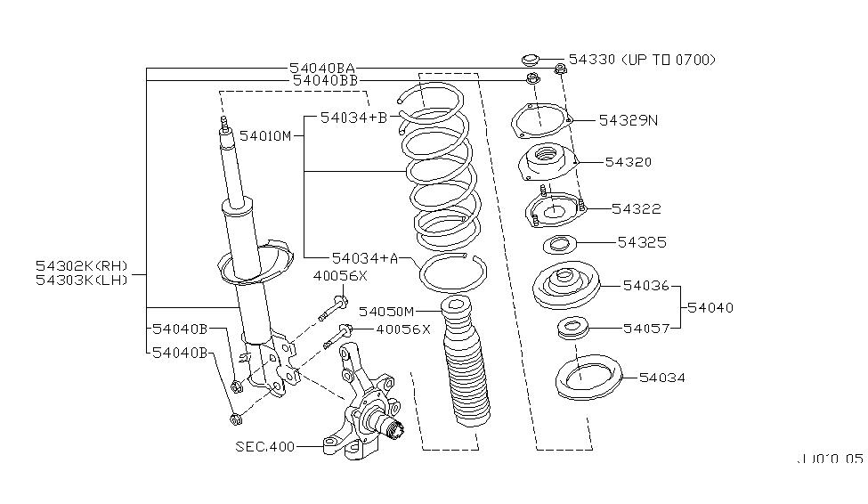 54034-0W020 - Genuine Infiniti Parts