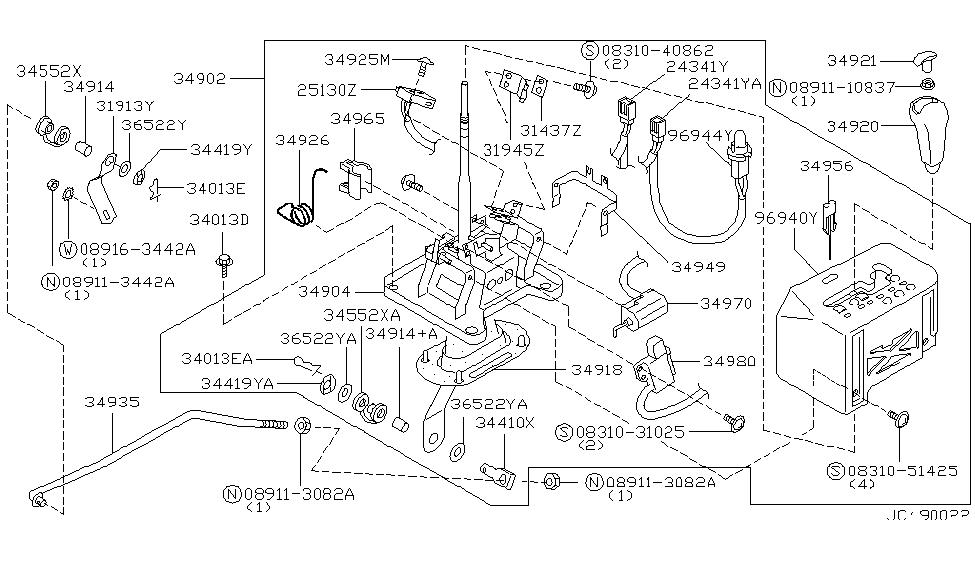 34902 65u00 genuine infiniti 3490265u00 part not available1990 infiniti q45 auto transmission control device