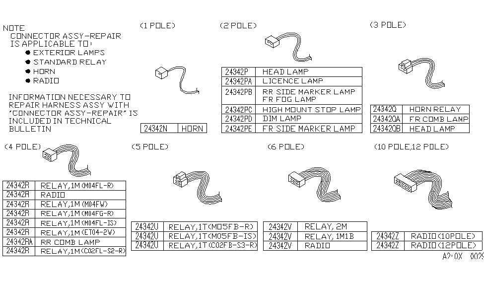 b4342 0ufc0 genuine infiniti parts. Black Bedroom Furniture Sets. Home Design Ideas