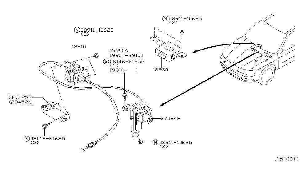 kia vacuum diagram 18955-2y900   genuine infiniti #189552y900 pump-vacuum ascd