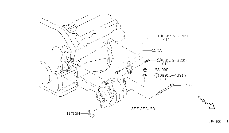 2001 infiniti i30 alternator fitting - thumbnail 1
