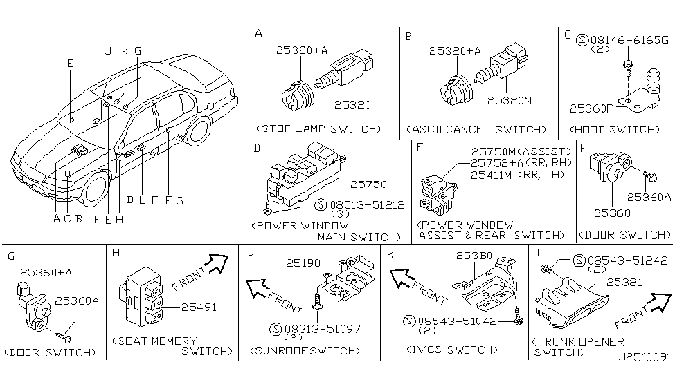 25411-5Y700 - Genuine Infiniti Parts