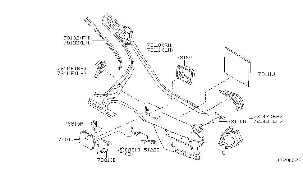 2002 infiniti i35 rear fender  u0026 fitting