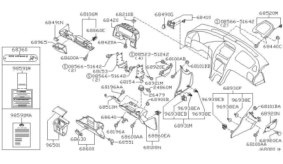 2002 Infiniti I35 Fuse Box