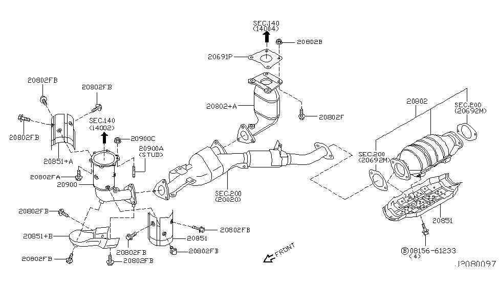 2004 infiniti i35 catalyst converter,exhaust fuel & ure in