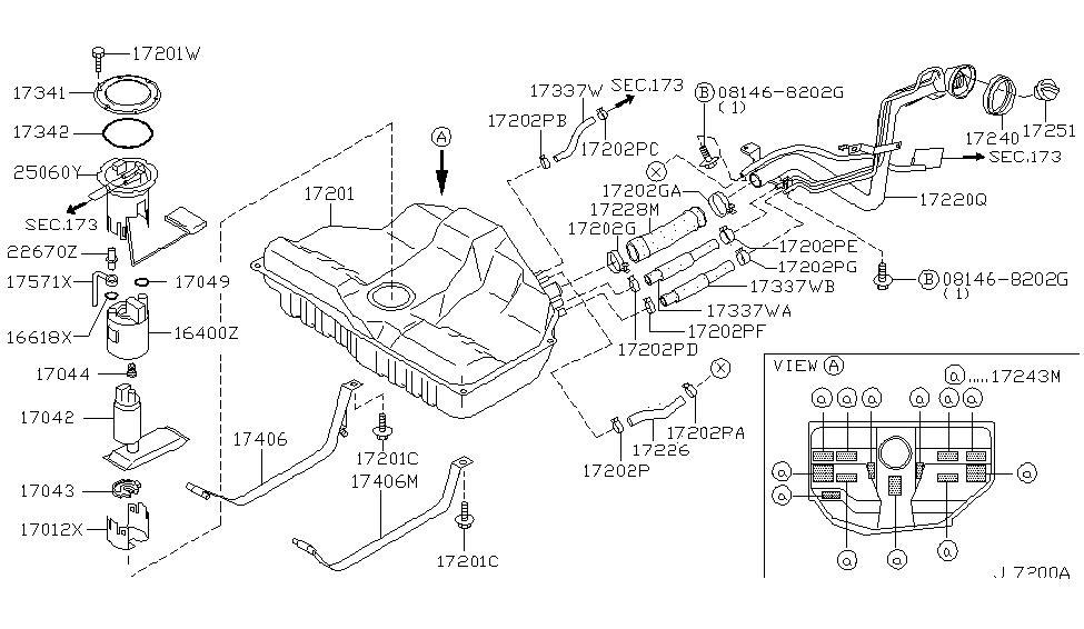 2001 Infiniti I30 Fuel Tank Infiniti Parts Deal