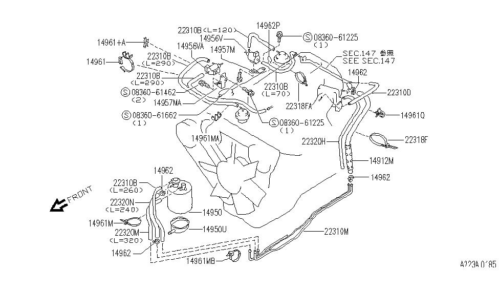 CKET-VALVE M Engine Diagram on