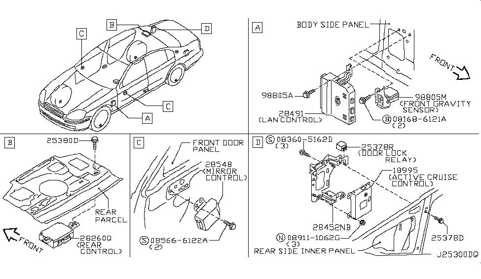 [SCHEMATICS_48EU]  18995-AS500 - Genuine Infiniti Parts | Infiniti Cruise Control Diagram |  | Genuine Infiniti Parts