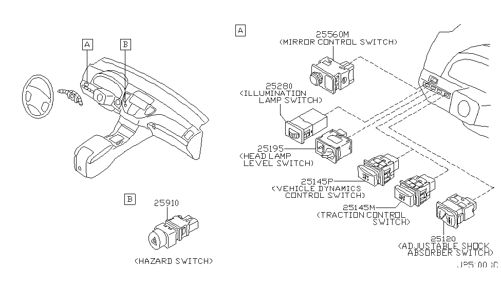 25145AR010   Genuine    Infiniti     25145AR010 HARNESS ASSYAC  REAR