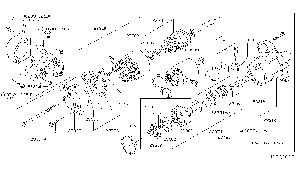 2005 Infiniti Q45 Starter Motor