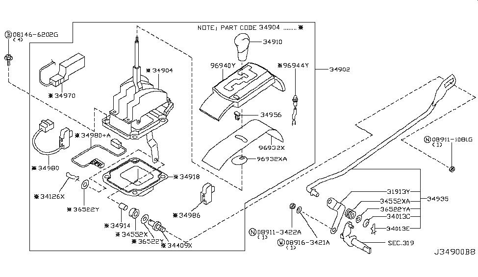 2006 Infiniti Q45 Auto Transmission Control Device