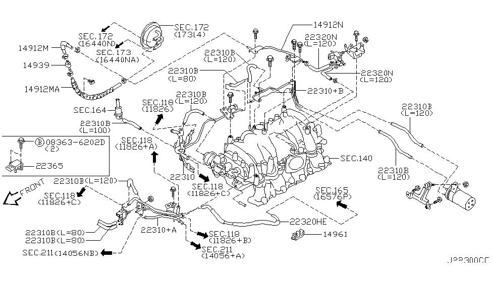 2003 Infiniti Q45 Engine Diagram