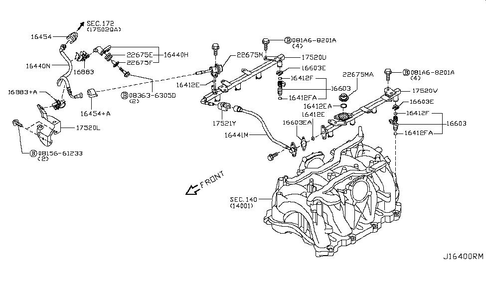 22675-jk20b | genuine infiniti #22675jk20b damper assy fuel honda fuel pressure diagram