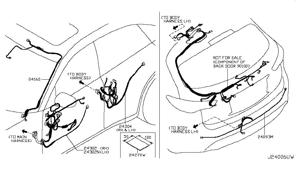 24093 1ca0a genuine infiniti 240931ca0a harness coner. Black Bedroom Furniture Sets. Home Design Ideas