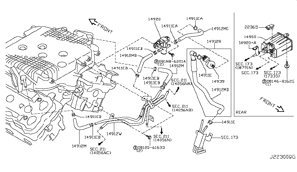 2008 infiniti g35 sedan engine control vacuum piping rh infinitipartsdeal com 2006 Infiniti G35 Sedan 2006 Infiniti G35 Sedan