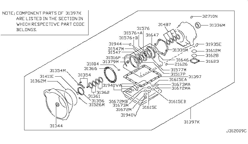 2009 Infiniti G37 Sedan Gasket & Seal Kit (Automatic)