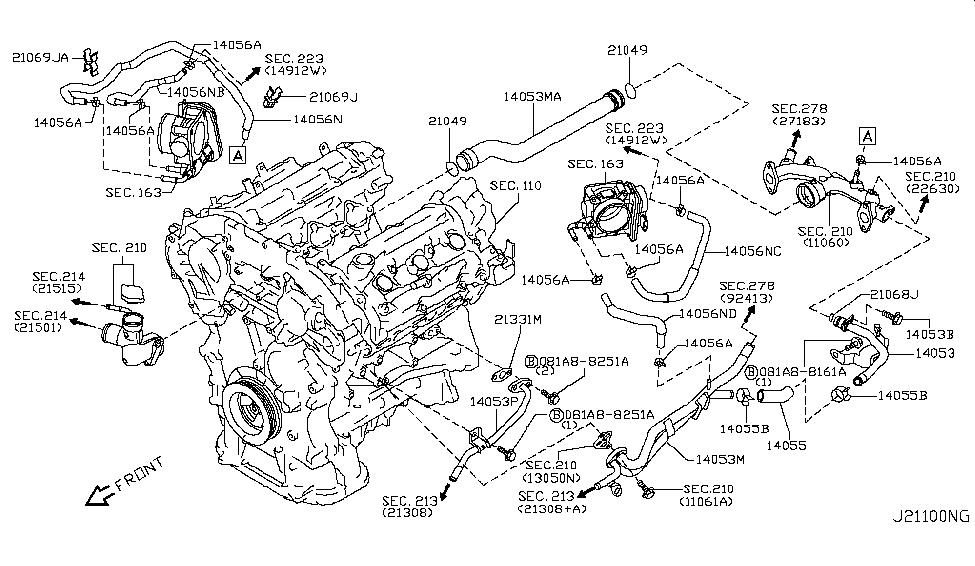 2008 infiniti g35 water hose piping infiniti parts deal rh infinitipartsdeal com 2008 infiniti m45 engine diagram 2008 infiniti m45 engine diagram