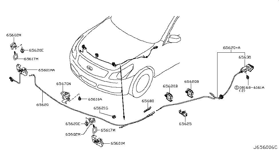 2007 infiniti g35 sedan hood lock control infiniti parts. Black Bedroom Furniture Sets. Home Design Ideas