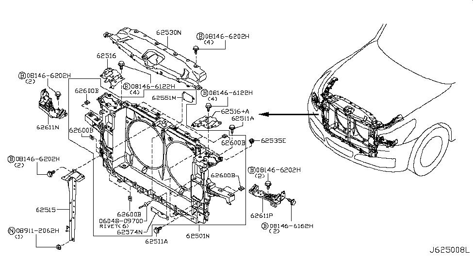 625c0 jk00a genuine infiniti parts rh infinitipartsdeal com A Diagram of 2006 Infiniti QX56 Engine engine diagram ex35 infiniti 2008