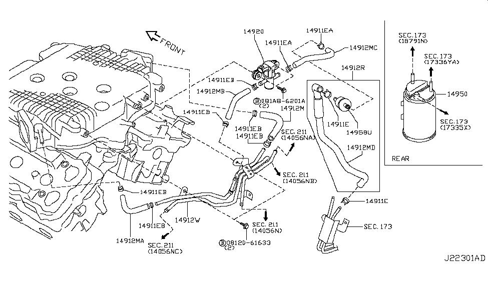 2007 Infiniti G35 Engine Diagram