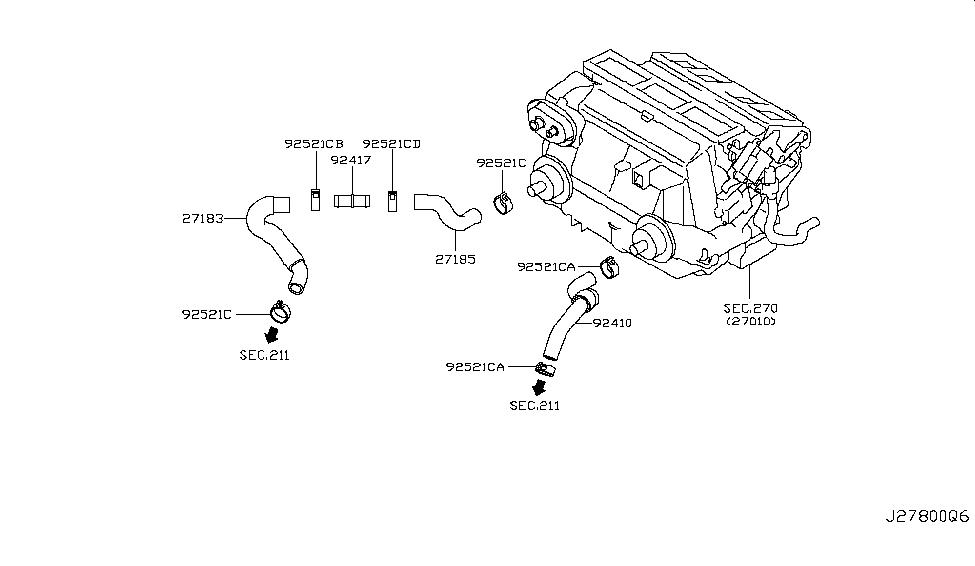 2009 infiniti g37 sedan heater piping infiniti parts deal rh infinitipartsdeal com Chevy Suburban Heater Hose Diagram Ford 5.4 Heater Hose Diagram