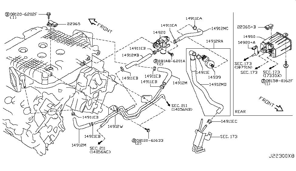 14950 jk60a genuine infiniti parts rh infinitipartsdeal com  2011 infiniti g37 engine diagram