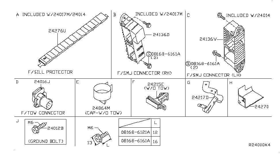 24340 zr00a genuine infiniti 24340zr00a connector b208. Black Bedroom Furniture Sets. Home Design Ideas
