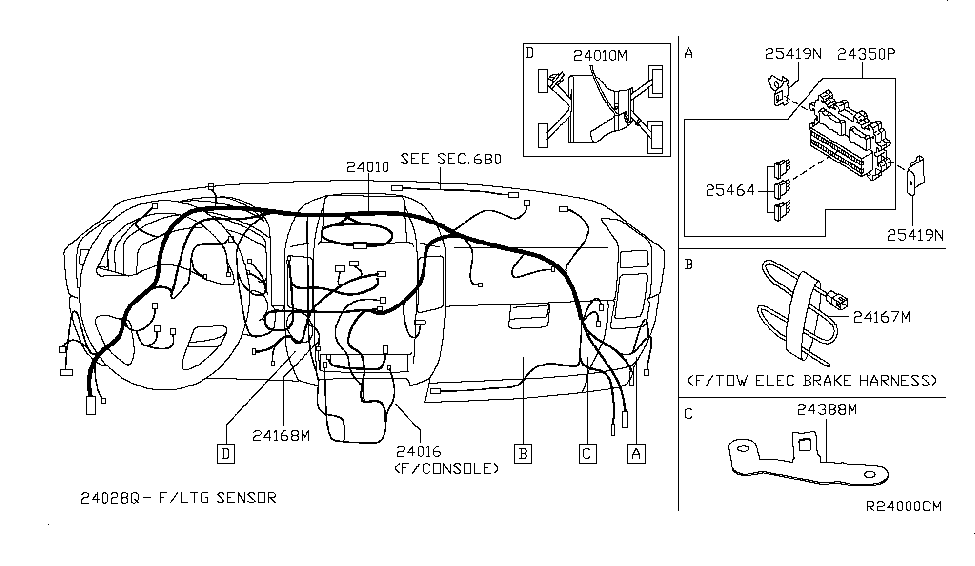HARNESS-SUB  Qx Sub Wiring Diagram on