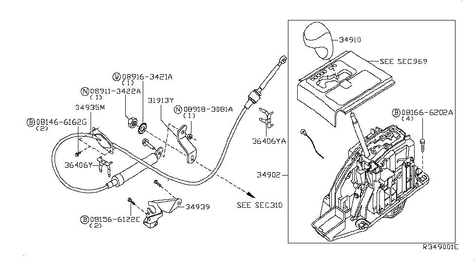 2008 Infiniti QX56 Auto Transmission Control Device