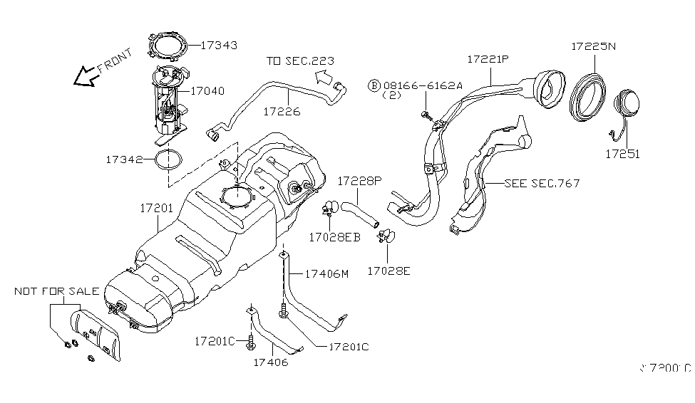 2006 Infiniti QX56 Fuel Tank - Infiniti Parts Deal on