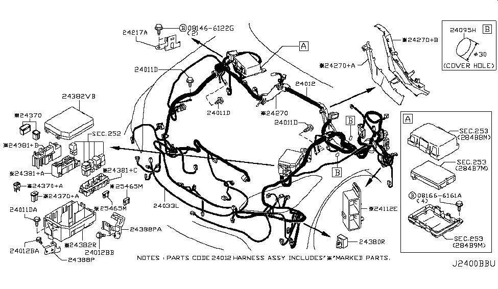 24382 1mg0a genuine infiniti 243821mg0a cover relay box rh infinitipartsdeal com infiniti oem parts diagram infiniti qx4 parts diagram