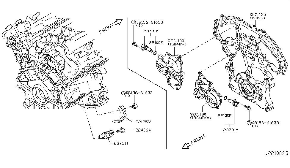 2011 Infiniti G37 Coupe Distributor & Ignition Timing Sensor
