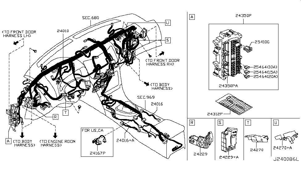 24010 1nm0b genuine infiniti 240101nm0b harness main. Black Bedroom Furniture Sets. Home Design Ideas
