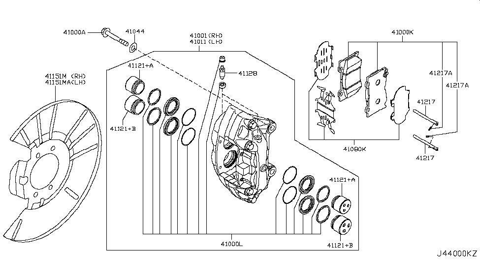 D1060 1nc0c Genuine Infiniti D10601nc0c Pad Kit Disc