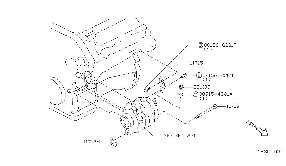 infiniti i30 engine wiring diagram 1996 infiniti i30 alternator fitting infiniti parts deal  1996 infiniti i30 alternator fitting