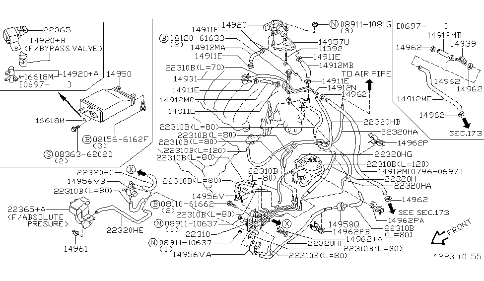 1999 infiniti i30 engine control vacuum piping rh infinitipartsdeal com 1995 Infiniti J30 Engine Diagram 2005 Infiniti FX35 Engine Diagram
