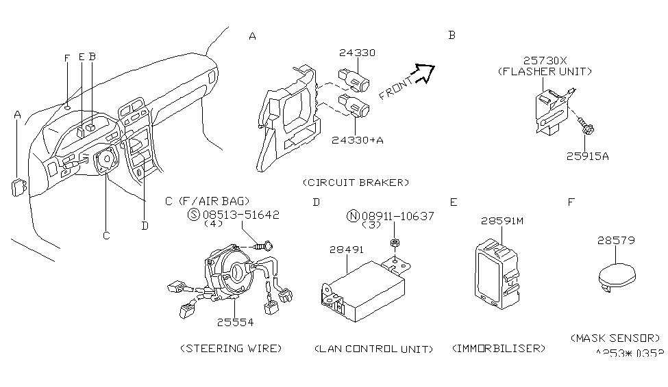 1998 infiniti i30 electrical unit