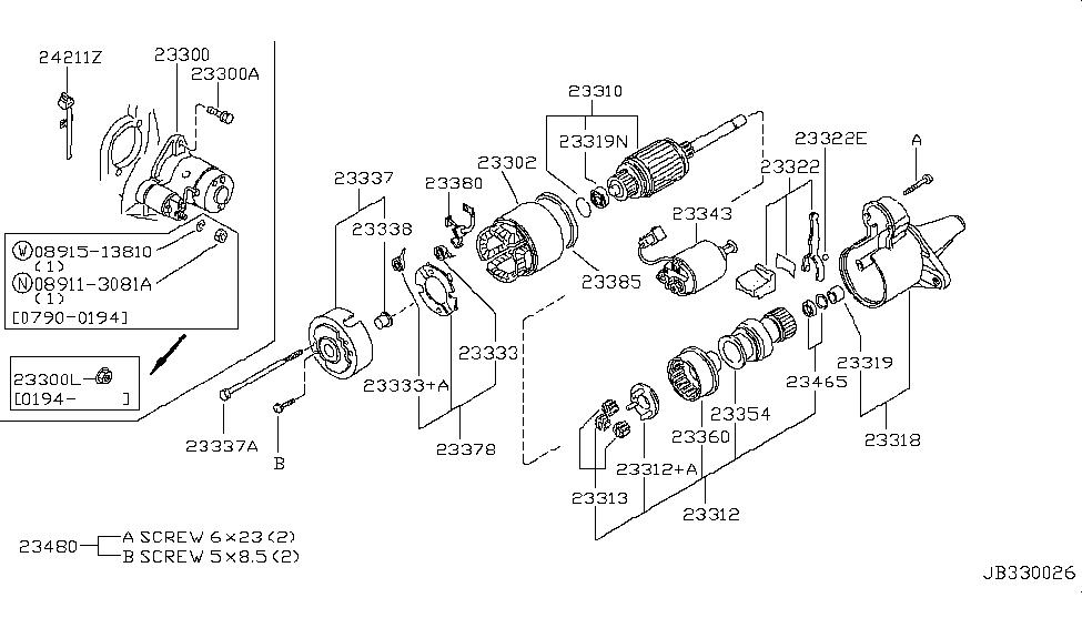 1994 infiniti g20 starter motor