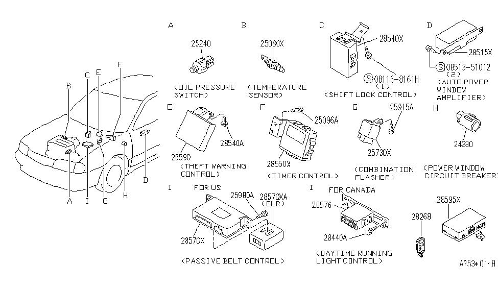 1995 infiniti g20 electrical unit - thumbnail 1