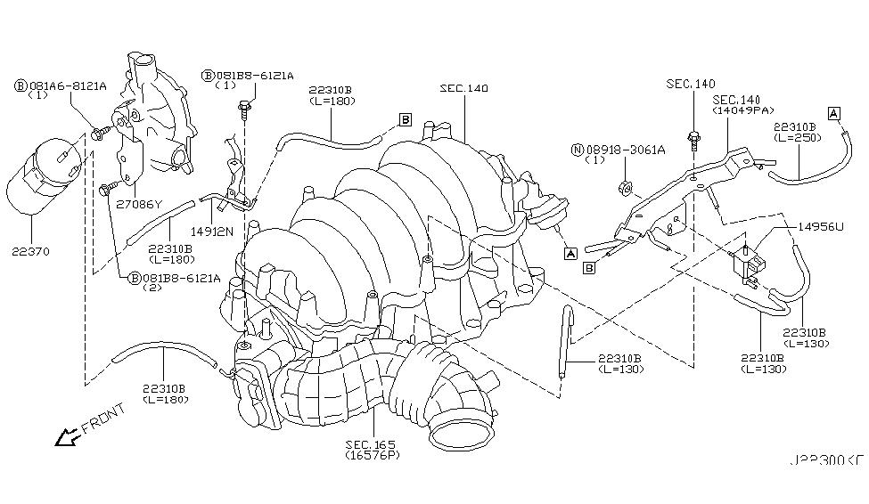 2007 infiniti m45 engine control vacuum piping rh infinitipartsdeal com 1995 Infiniti J30 Engine Diagram 2001 infiniti i30 vacuum diagram