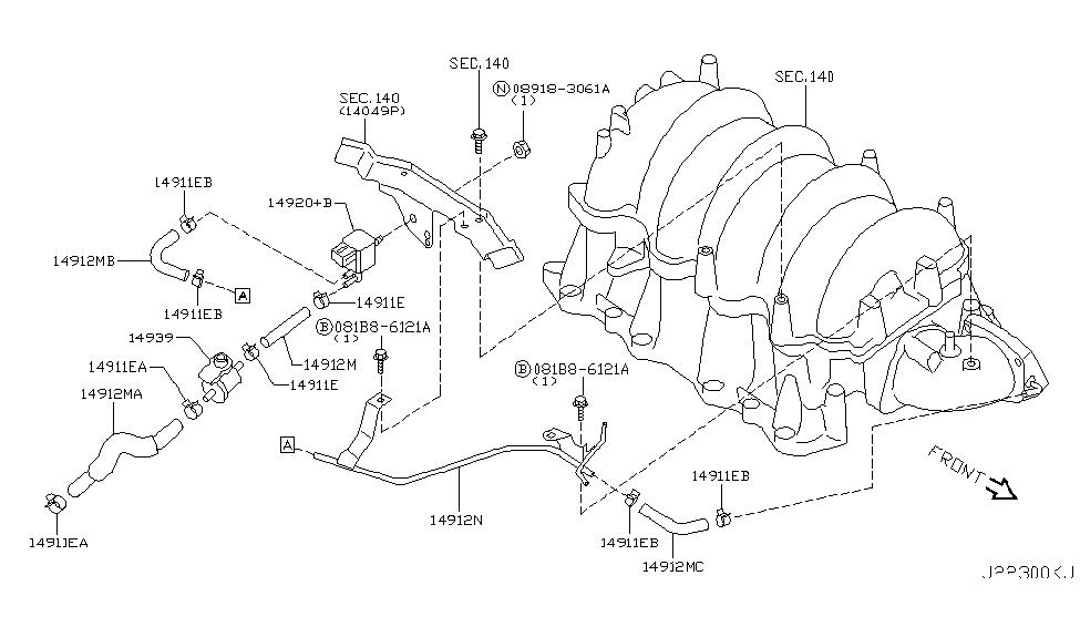 2007 infiniti m45 engine control vacuum piping rh infinitipartsdeal com