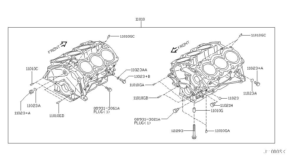2006 infiniti m45 cylinder block oil pan infiniti parts deal rh infinitipartsdeal com