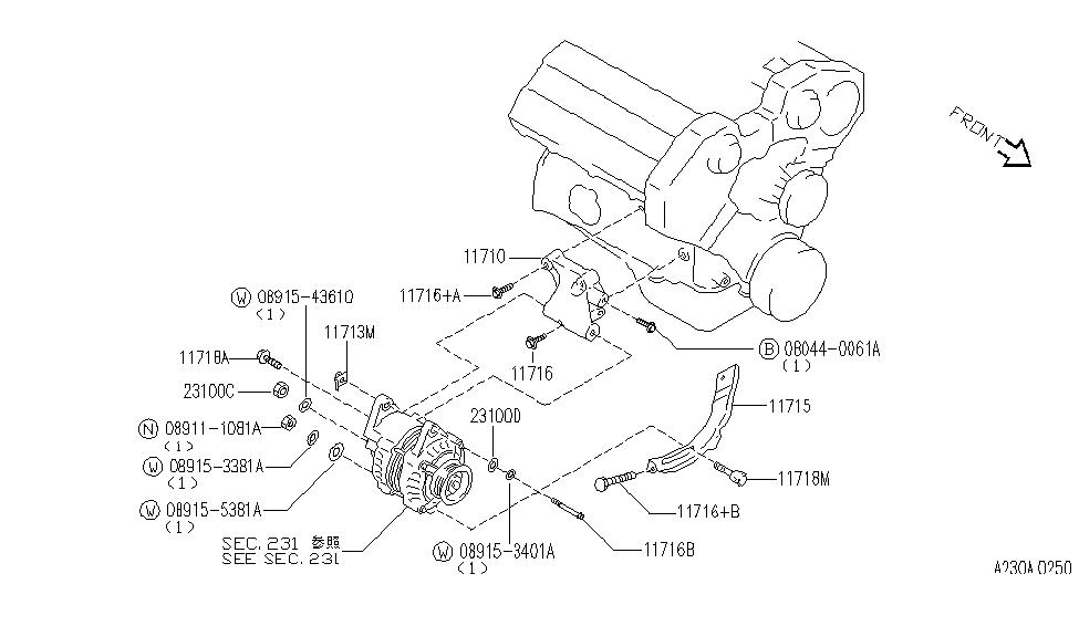 1993 infiniti j30 alternator fitting