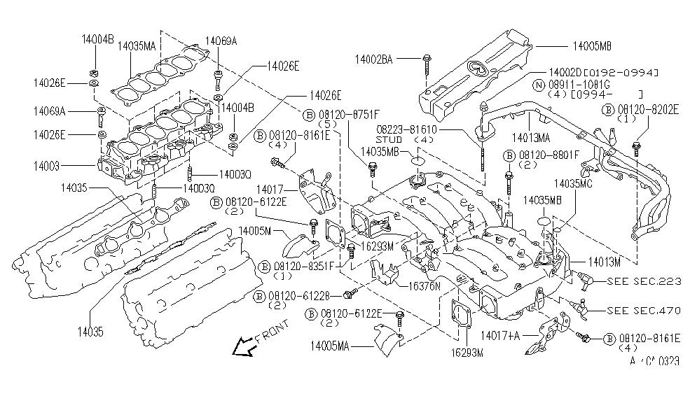 1993 infiniti j30 engine diagram 14070 f6500 genuine    infiniti    14070f6500 stud  14070 f6500 genuine    infiniti    14070f6500 stud