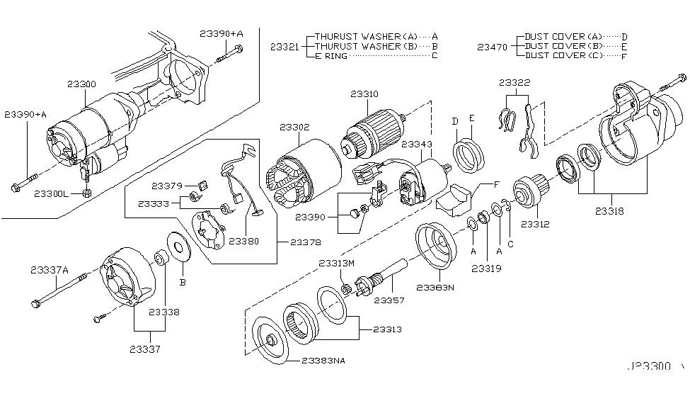 2006 infiniti fx35 starter motor - thumbnail 1