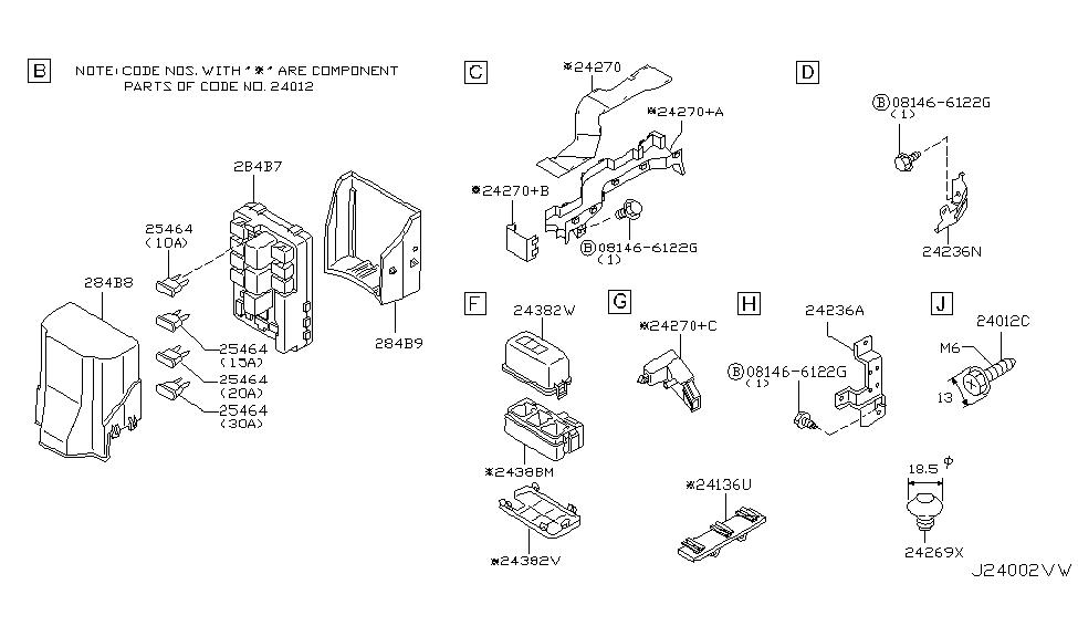 284b7 cl000 genuine infiniti parts. Black Bedroom Furniture Sets. Home Design Ideas
