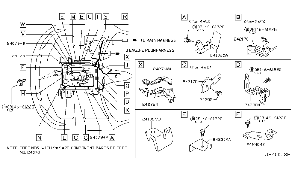 24236 al800 genuine infiniti 24236al800 bracket connector. Black Bedroom Furniture Sets. Home Design Ideas