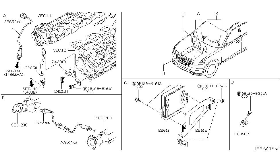 2005 infiniti fx35 engine control module infiniti parts deal rh infinitipartsdeal com 2004 infiniti fx35 engine diagram 2001 Infiniti I30 Engine Diagram